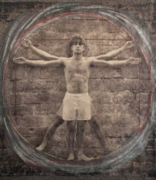 D'après Da Vinci, 2016, 129x105 cm