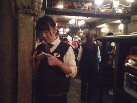 Staff dressed as a Hogwarts student