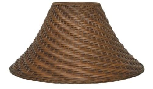 kap lampu bambu