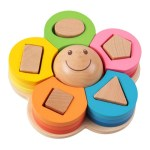 mainan kayu bunga puzzle