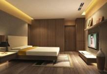 ruang interior dengan hpl