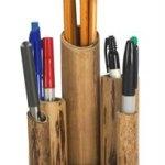 tempat pensil tabung bambu