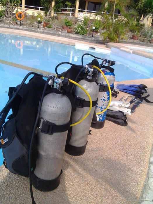 Getting ready for a dive