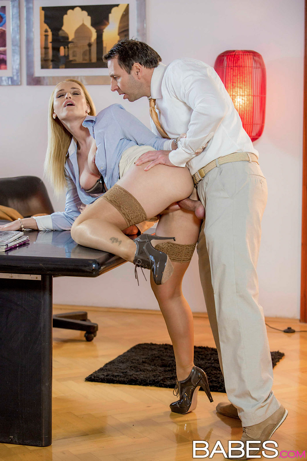 Kathia Nobili Horny Czech Exec Grabs CoWorker for Office Sex