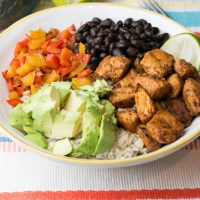30 Minute Skinny Chicken Burrito Bowl