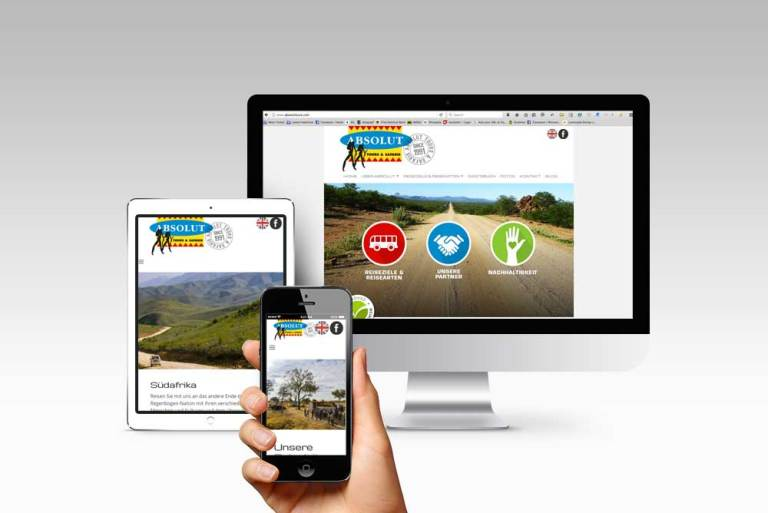 Absolut Tours and Safaris website