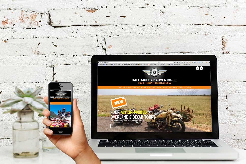 Cape Sidecar Adventures website