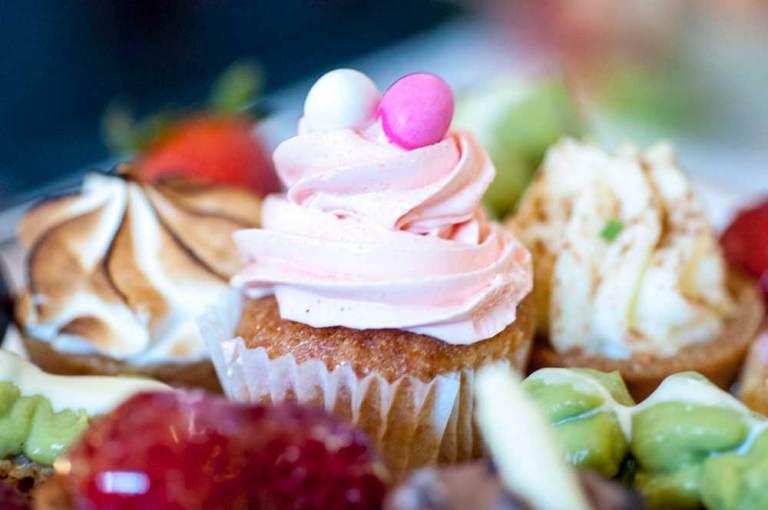 Noordhoek Cafe & Deli - pink cupcake closeup