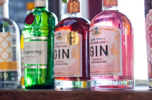 Noordhoek Cafe & Deli -Gin selection