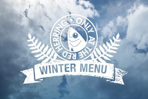 The Red Herring menu logo
