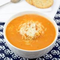 Tomato Soup With Orzo (Domatosoupa Me Kritharaki)