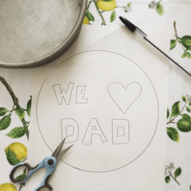 stencil of we love dad