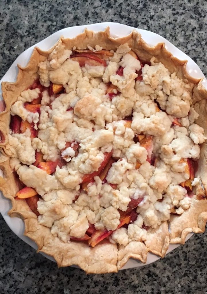 Nectarine Pie with Lemon Streusel