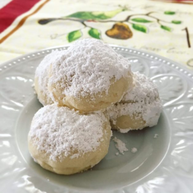 Meyer Lemon Snowball Cookies
