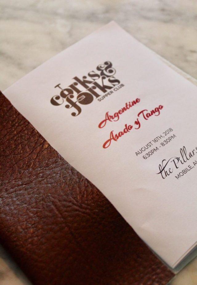 leather bound menu