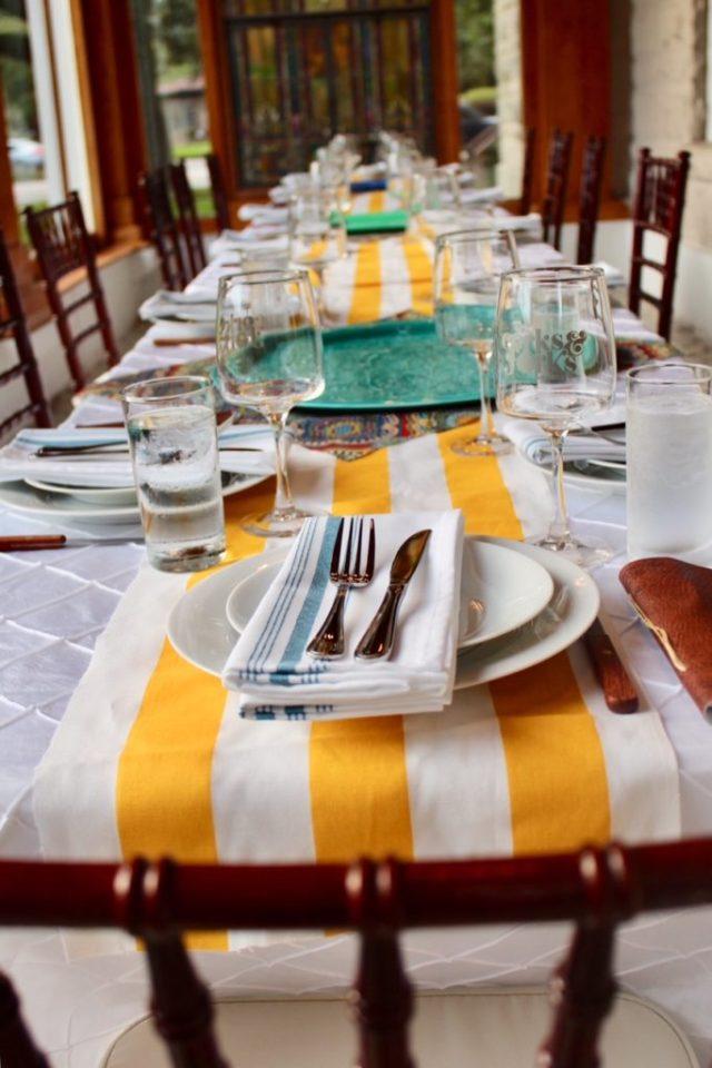 Beautiful bright tablescape