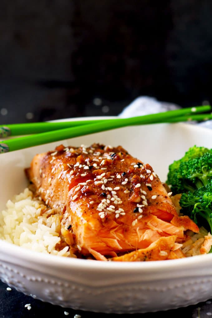 Honey Ginger Salmon ~ Dinner in 20 Minutes!