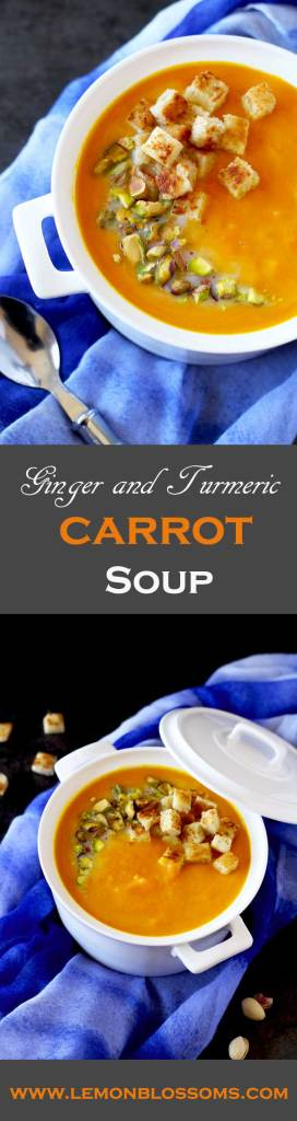 This immune boosting Ginger and Turmeric Carrot Soup is simple and easy to make. Sweet potato and freshly squeezed orange juice brighten up the flavor. Finished with a bit of coconut milk to add creaminess and body.