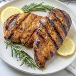 Grilled Chicken Breast with the Best Balsamic Herb Marinade