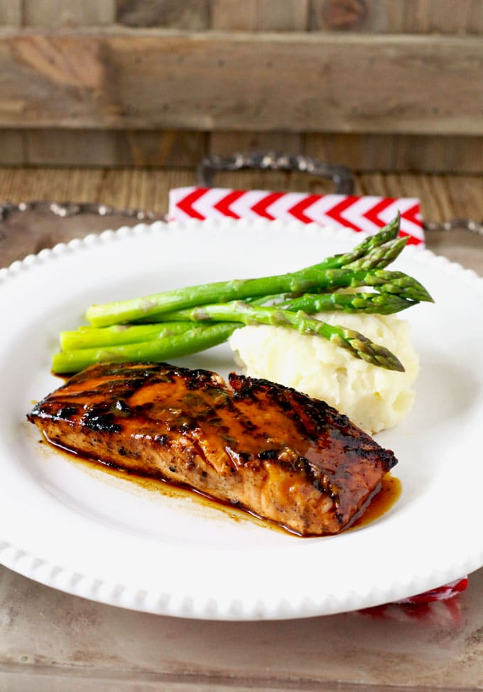Miso Honey Glazed Salmon ~ 4 Ingredients = Quick + Easy + Healthy