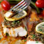 Sheet Pan Cod with Moroccan Chermoula Sauce