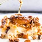 Pumpkin French Toast drizzled with maple syrup