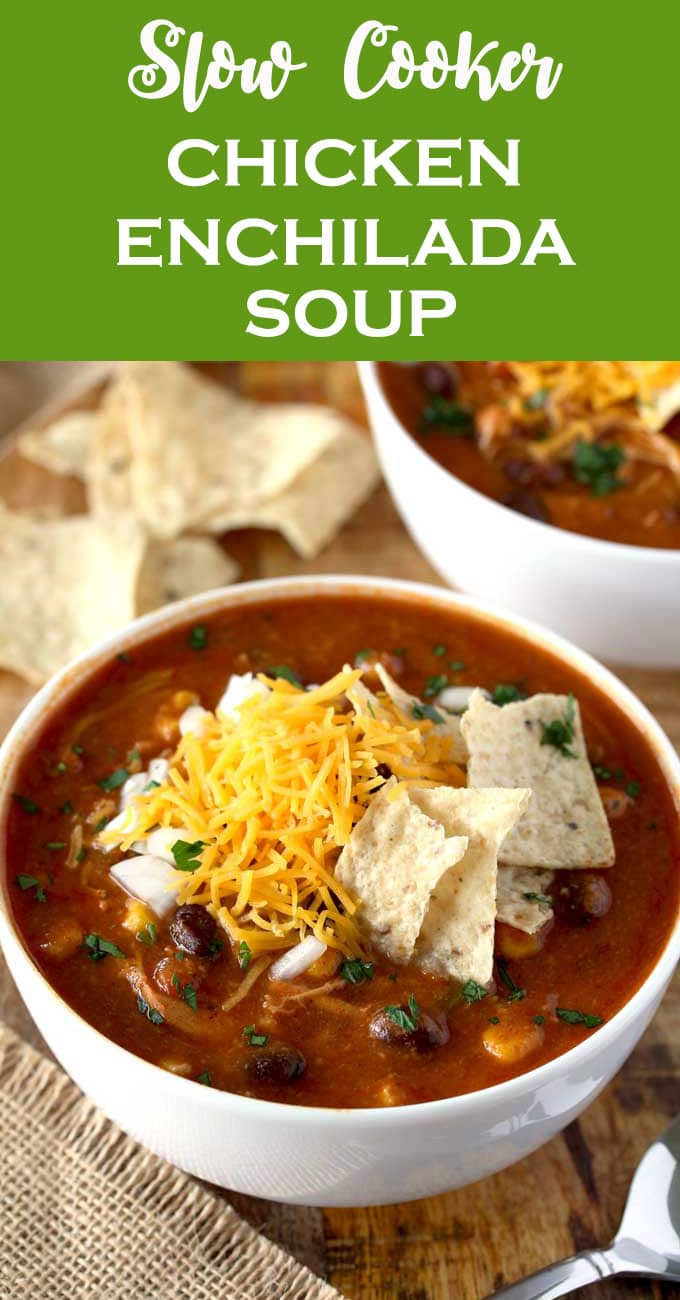 Slow cooker chicken enchilada soup lemon blossoms this slow cooker chicken enchilada soup is bursting with flavor cheesy creamy and full forumfinder Images