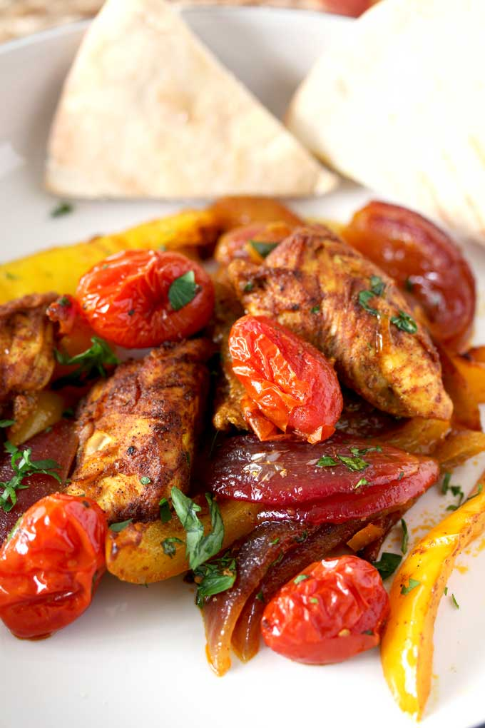 Sheet Pan Chicken Shawarma with Vegetables