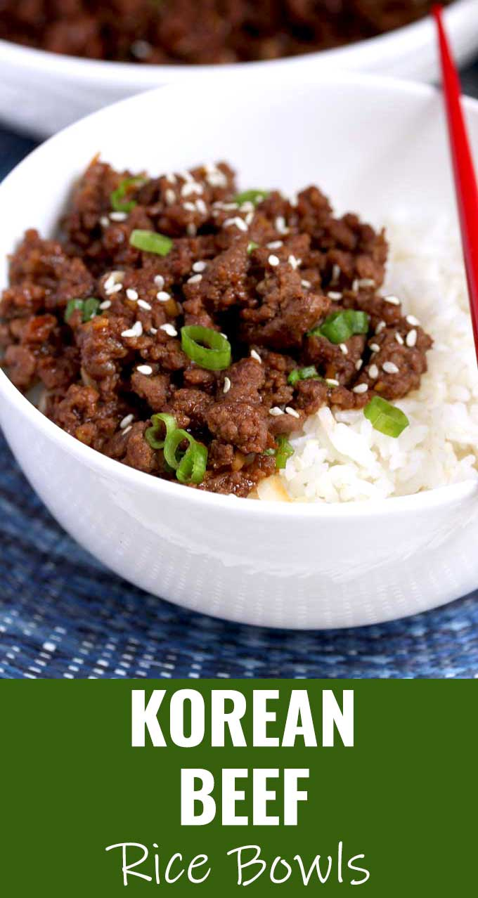 This Korean Beef is savory, sweet and a bit spicy. Very easy to make, budget friendly and ready in 20 minutes! This delicious and simple ground beef recipe is the perfect meal for busy weeknights! #KoreanBeef #easy #recipe #Keto #bowl #bulgogi #groundbeef