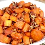 Candied Sweet Potatoes with Brown Sugar and Pecans