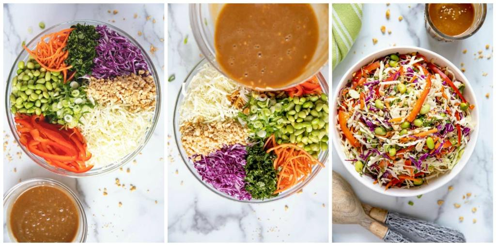 Step by Step photos on how to make this coleslaw recipe.