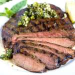 Korean Grilled Flank Steak with Asian Chimichurri