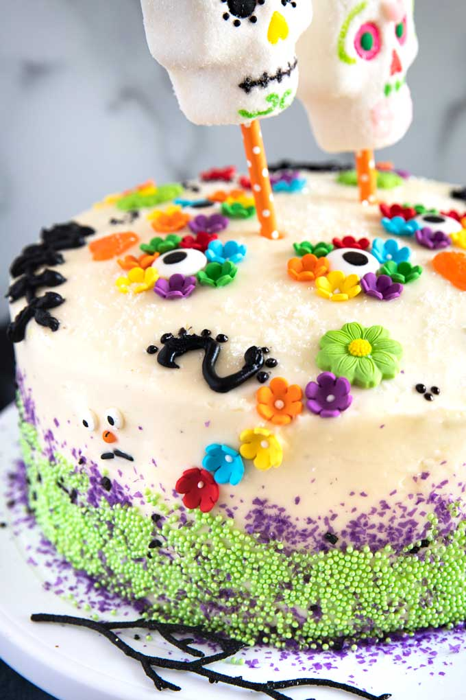 Close up of Dia de los Muertos Cakes
