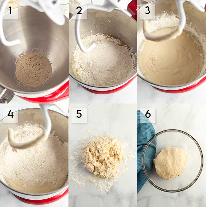Making the dough for this bread recipe