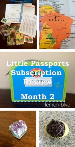 Little Passports Review - Month 2 - lemon blvd
