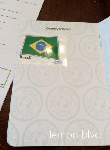Little Passports Review - Passport Book with Brazil Stamp - lemon blvd