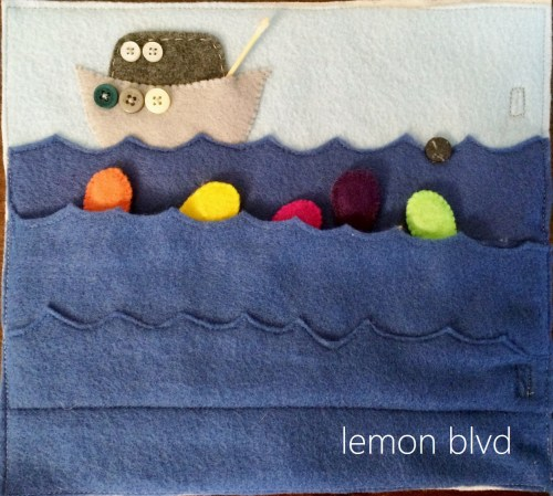 Magnetic Fishing - Quiet Book Page - lemon blvd