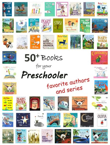 50+ Books for your Preschooler - favorite authors and series - lemon blvd