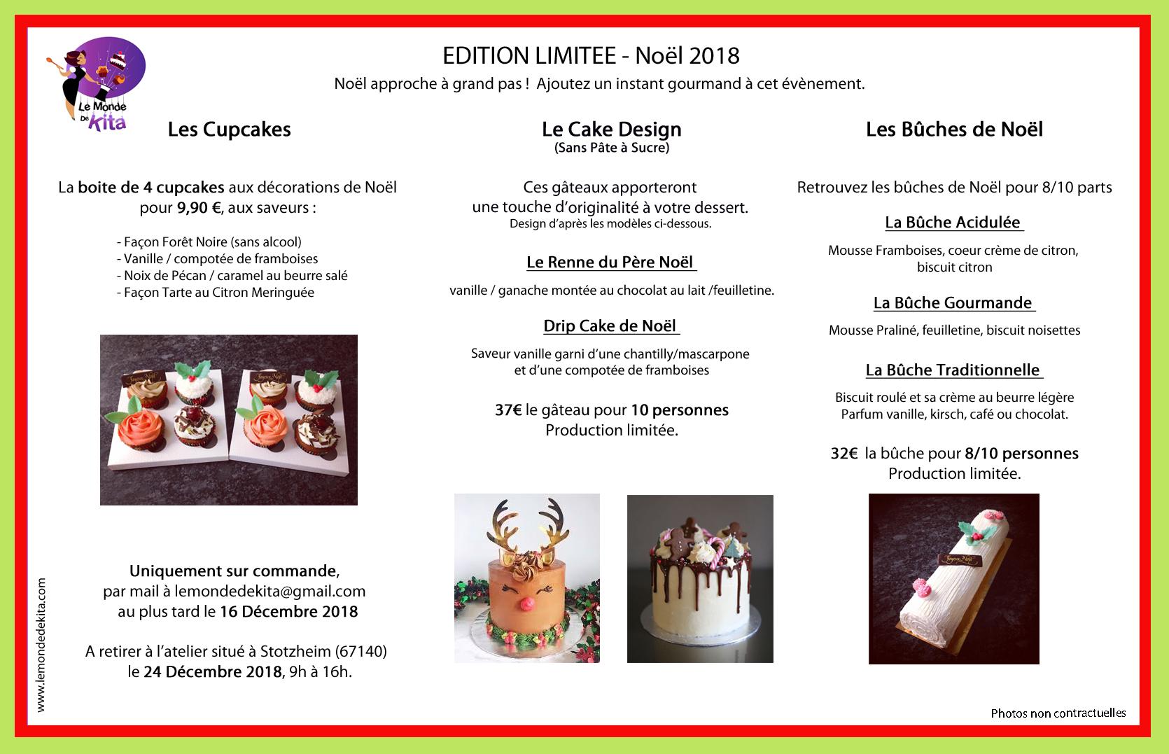 Bûche cupcakes gâteaux Noël 2018 pâtisserie