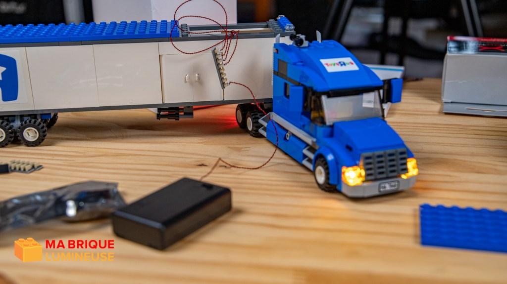 Montage d'un kit led sur un camion LEGO®