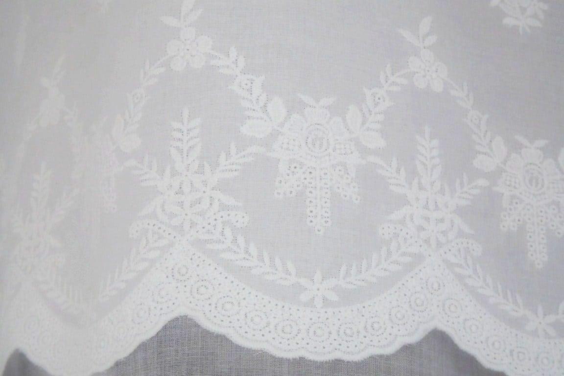 Rideau Organdi Blanc Modele Pur