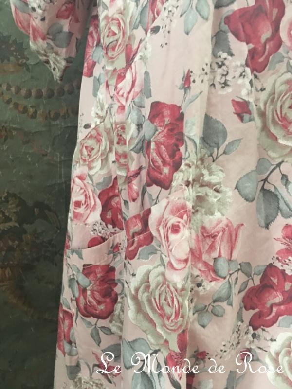 Robe coton SHABBY CHIC ROSE  Le Monde de Rose
