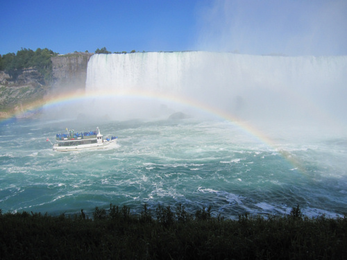 A view of Niagara Falls from Canada