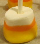 Easy Candy Corn Marshmallow Pops