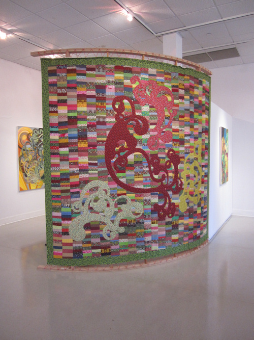 Heather's quilt displayed at the Peoria Art Guild in August, 2012