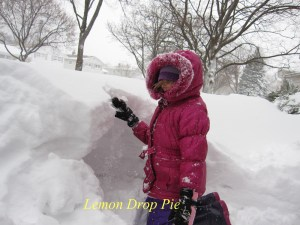Lily's snow tunnel in Feb. 2011