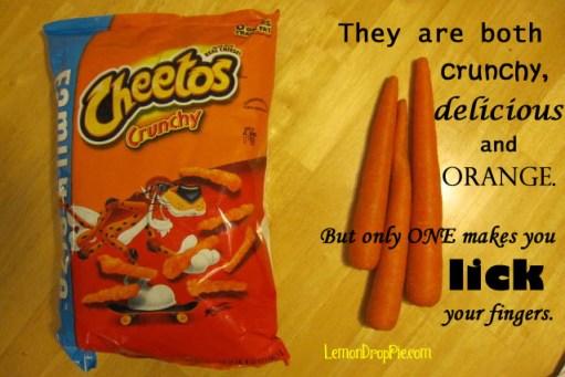 Cheetos vs carrots
