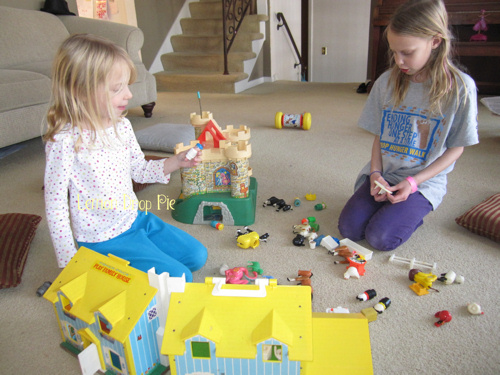Fisher-Price vintage house and castle