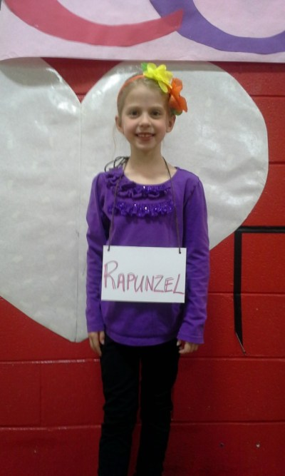 "Emmy in her school musical, ""Character Matters."""