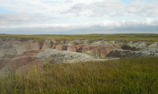 prairie meets badlands
